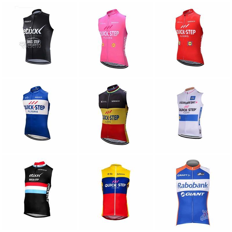 de6e76363 QUICK STEP RABOBANK Team Cycling Sleeveless Jersey Vest Bicycling Wear 2018  Summer Men Wear Resistant Bicycle Jersey 92646X QUICK STEP RABOBANK Cycling  ...