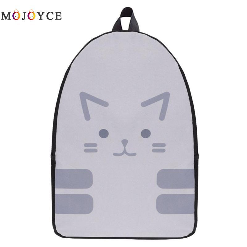 eac6979764 Cute Women Men Backpack Cartoon Cat Printed Teen Student Travel School Bag  For Teenage Girls Boys Casual Oxford Female Bag Laptop Backpacks Travel  Backpacks ...