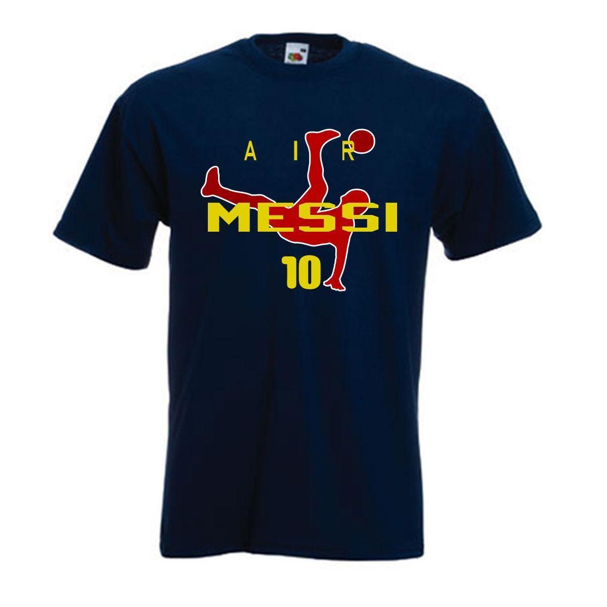 06da46653 Lionel Messi FC Barcelona Air Messi Soccer World Cup Jersey T Shirt ...