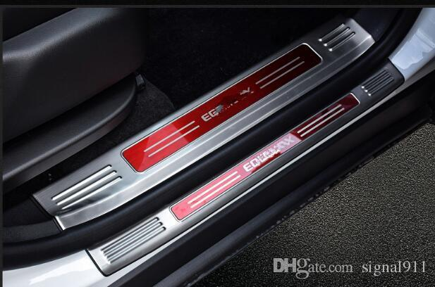 High quality stailness steel inner door sills scuff plate+outer door sills plate for Chevrolet Equinox 2017-2018