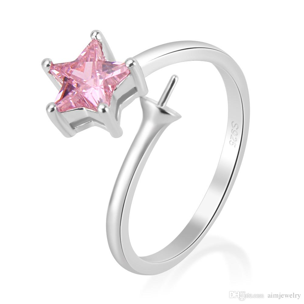 Star Design Adjustable 925 Sterling Silver Ring Accessories With