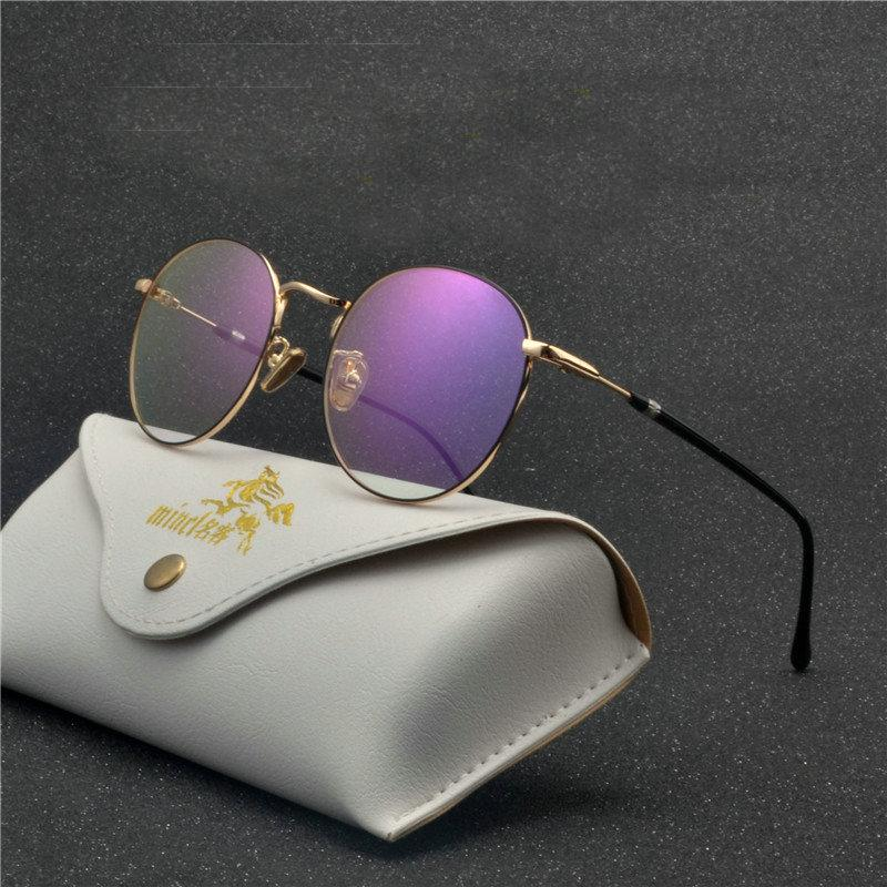 515a531f86 MINCL  Round Men Optical Spectacle Frame Women Computer Eye Glasses ...