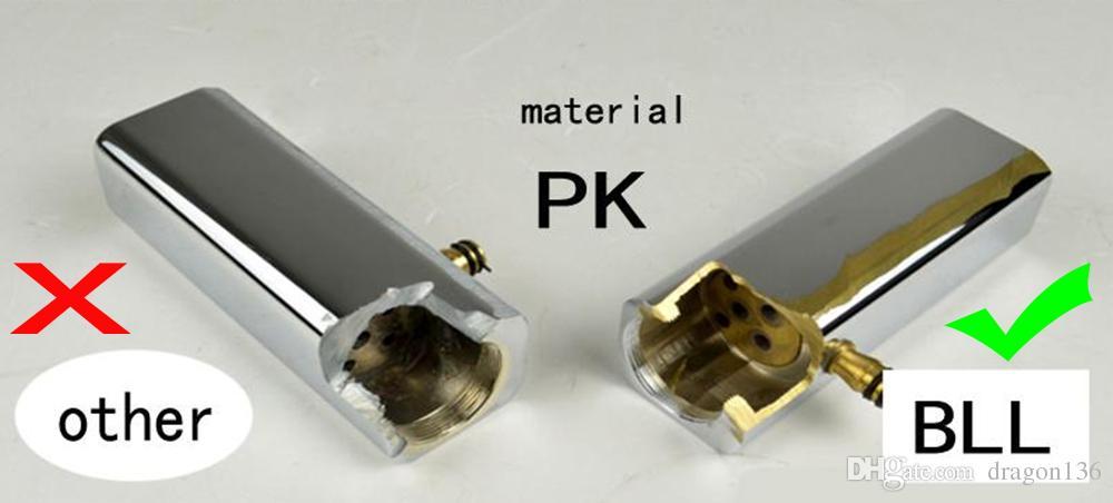 BLL bicromato di potassio moderno bagno ottone del bacino della maniglia di rubinetto lavandino singolo Miscelatore piattaforma montata NY02727