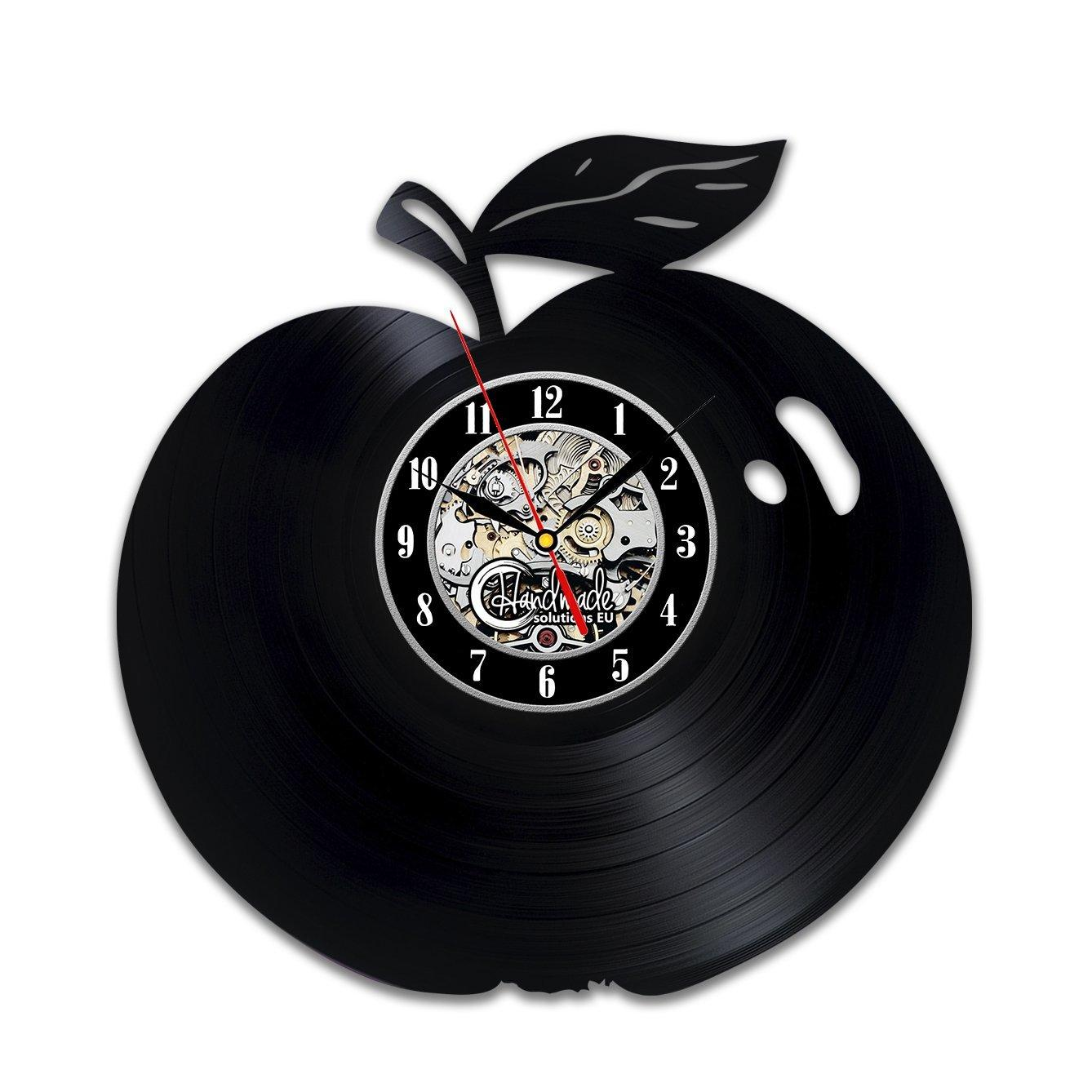 Diy Gift For Apple Vinyl Wall Clock Fruit Decoration Lover Gifts