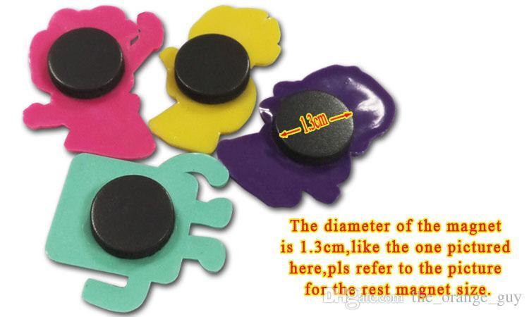 Opcional Frigorífico Ímãs Criativos Dos Desenhos Animados PVC Decoração de Casa Ímãs de Geladeira Adesivos Blackboard Crianças Presentes Frete Grátis