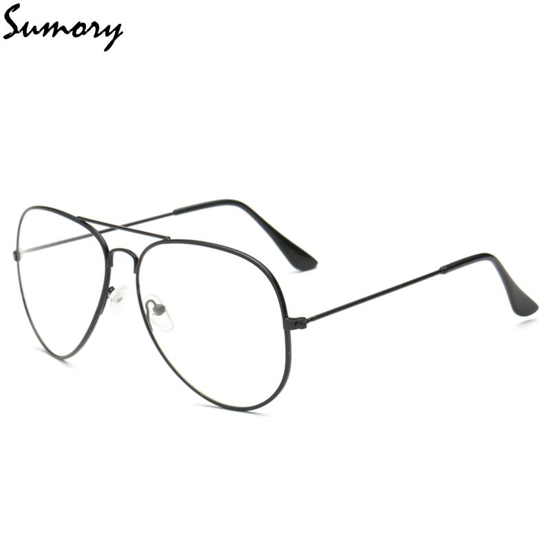 d322734911a Fashion Pilot Eyeglasses Frame Plain Glasses Women Men Vintage Brand Clear  Nerd Glasses Alloy Frame Unisex Eyewear High Quality Eyewear Frames Cheap  Eyewear ...