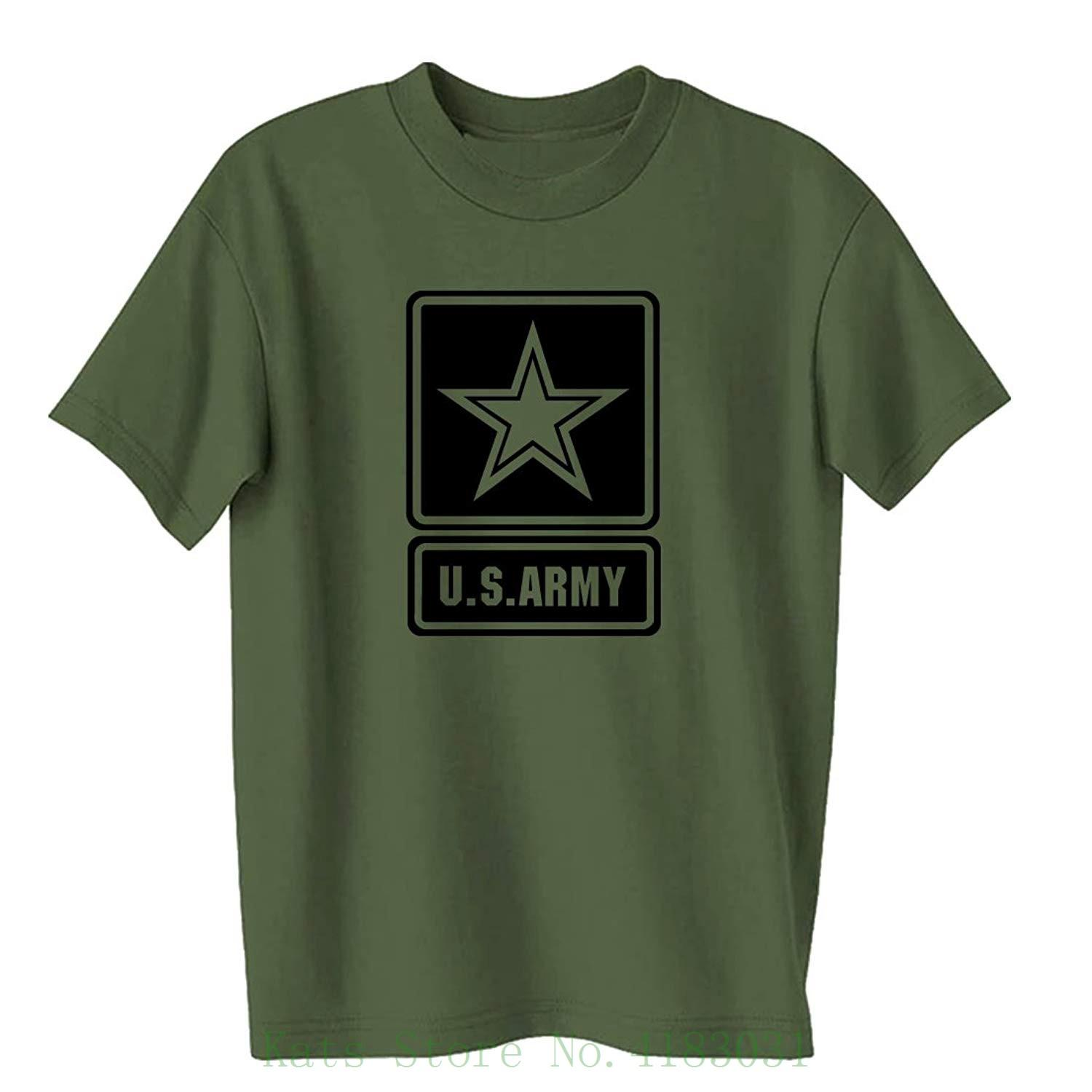 Us Army Star Modern Logo Short Sleeve T Shirt In Military Green Tshirt  Summer Style Fashion Men T Shirts Best Tee Shirt Sites Online Funky T Shirts  From ... a465be0db6e