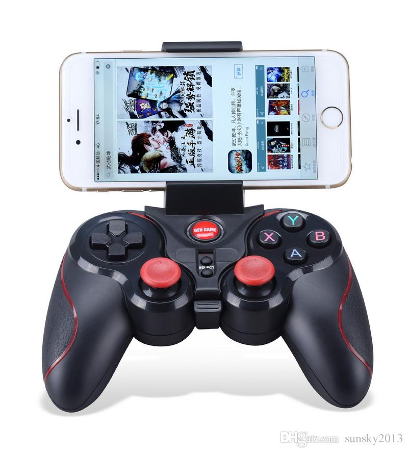 Wireless Bluetooth Gamepad Joystick with USB Receiver Gen Game SGame Controller for IOS Android Phone