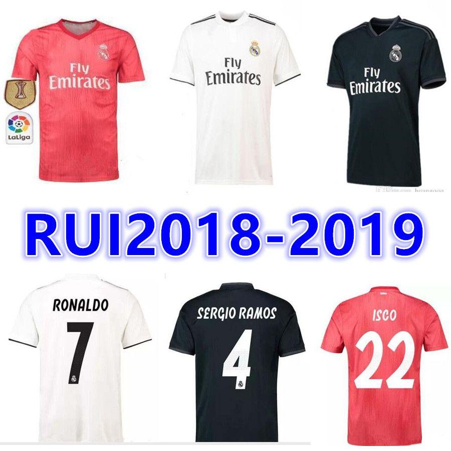 3b302c017a TOP Tailandia 18 19 Camisetas De Fútbol Local Del Real Madrid 2019 BALE  KROOS SCOI MARCELO MODRIC BENZEMA Camisetas De Fútbol Por Rui666888