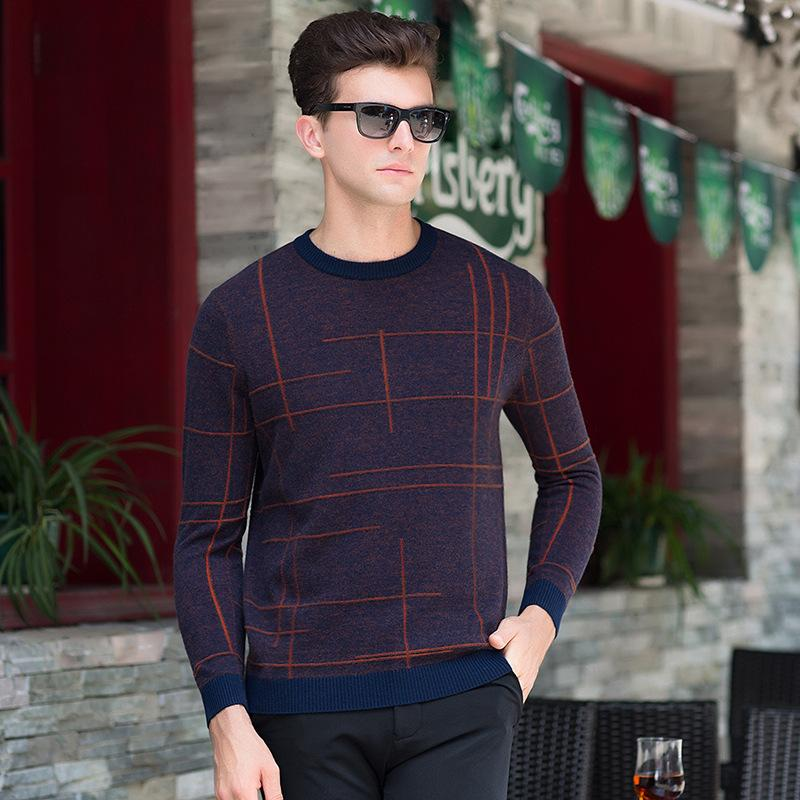 e220bf102 2019 2018 Winter Mens Long Sleeve 100% Wool Sweater Men Jumper Jersey  Sueter Hombre O Neck Collar Male Casual Knitted Sweaters Homme From Karel
