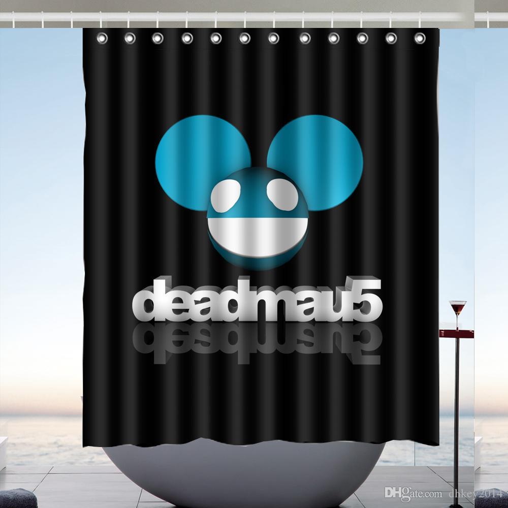 2019 Custom Deadmau5 Band Waterproof Bathroom Shower Curtain Polyester Fabric Size 60 X 72 From Dhkey2014 3517