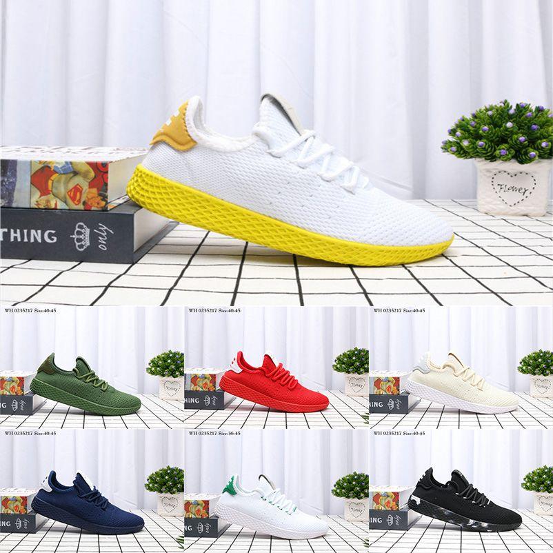 0419edde85463 2018 Hot Sale Pharrell Williams X Stan Smith Tennis HU Primeknit Men Women  Running Shoes Sneaker Tubular Shadow Runner Sports Shoes 36 45 Running  Shoes Men ...