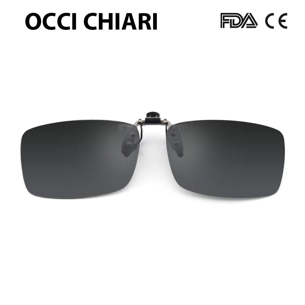 bfae97c4252 Men Women Flip Up Polarized Sunglasses Clip On Myopia Glasses Frameless  Night Vision Goggles Driving Glasses OCCI CHIARI UV400 Prescription  Sunglasses ...