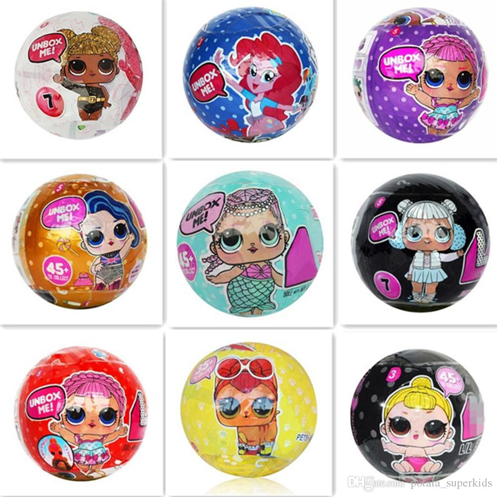 7 Patterns Mini Doll Series 4 LiL Sisters New Action Figures 10CM Ball Dolls Dress Up Baby Spray Water Dolls Toys for Girls Mermaid Pets