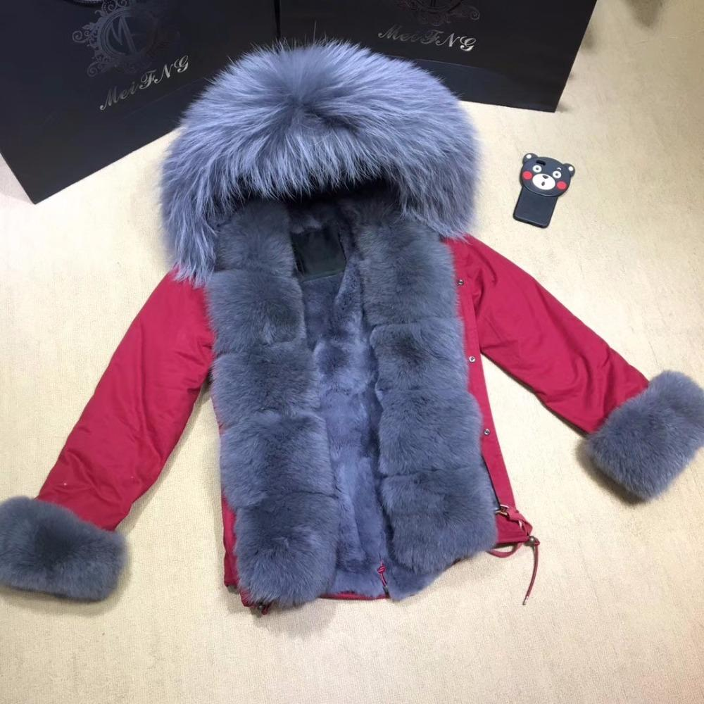 349f27915 2019 TOP Parka Fur Coat Winter Jacket Women Real Raccoon Fur Collar ...