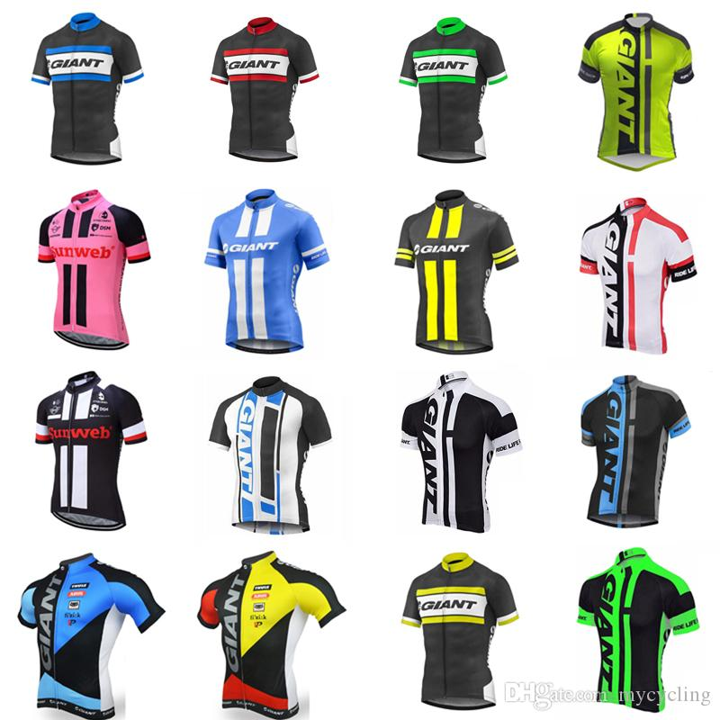 2018 New GIANT Cycling Jersey Summer Breathable Mtb Bike Clothing racing Bicycle shirts Short Sleeve Tops Maillot Ciclismo Sportswear C2412