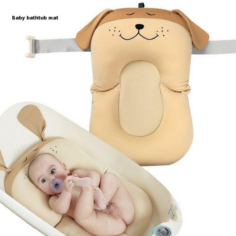Cartoon Dog Baby Bath Mat Soft Non-slip Bathing Cushion Bathtub ...