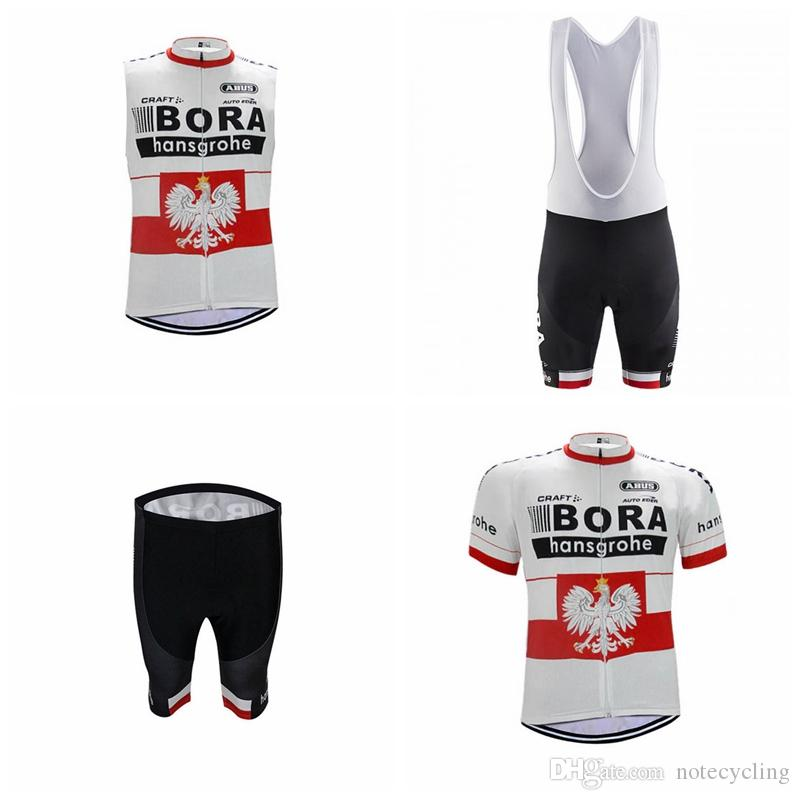 3380150d7 BORA Team Cycling Short Sleeves Jersey Bib Shorts Sleeveless Vest Sets New Bicycle  Ropa Ciclismo Breathable Mountain Biker Men A41317 BORA Cycling Jersey ...