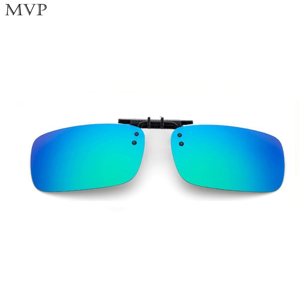 923ab64a61 Night UV400 Vision Eyewear Clip-on Polarized Flip-up Lens Mirrored ...