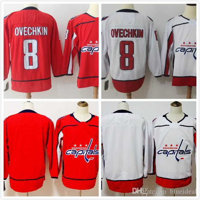 new washington capitals red white blank hockey jersey 8 alex ovechkin 8 drew doughty 11 anze kopitar
