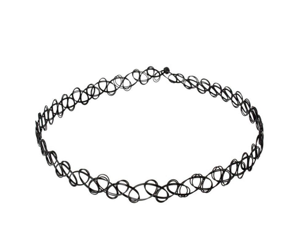 Le nuove decorazioni europee e americane del vestito della collana di combinazione del choker delle donne semplici del collare con la collana del merletto mette all'ingrosso