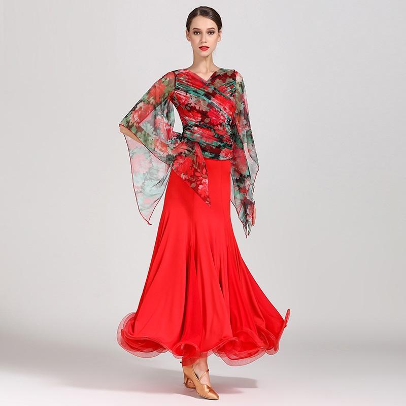 1d4f7764dd Abiti da ballo standard vestiti da topskirt vestiti da valzer liscio  vestito da ballo moderno tango foxtrot abbigliamento da ballo flamenco