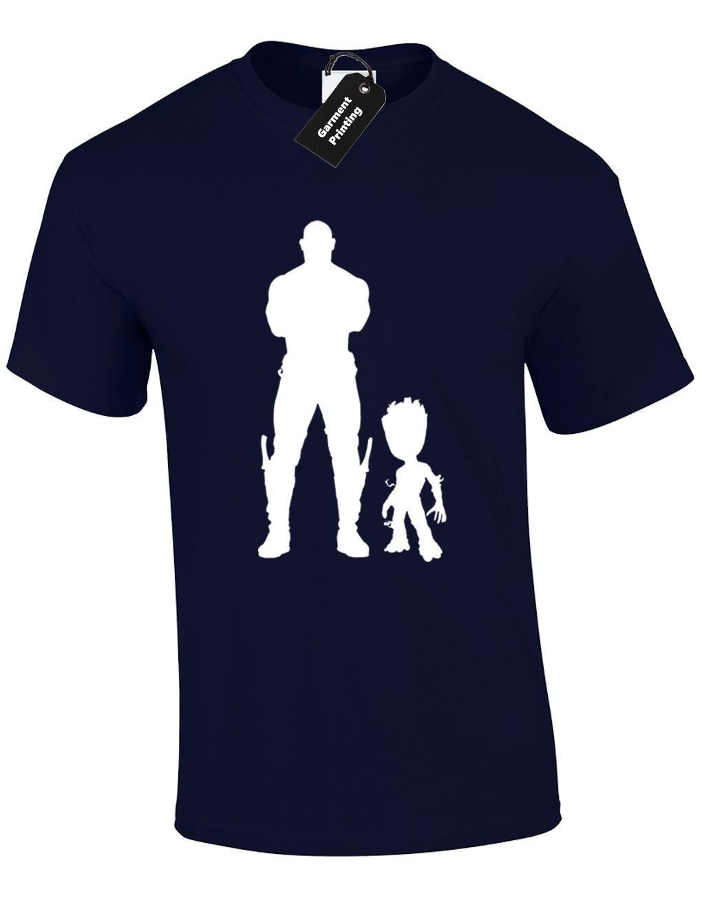 DRAX AND GROOT KIDS BAMBINI T SHIRT GUARDIANS DESIGN GALAXY STAR LORD TOP