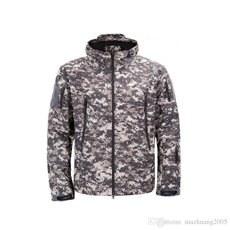 409f696f79aa Army Camouflage Coat Military Jacket Waterproof Windbreaker Raincoat Hunt  Clothes Army TAD Men Outerwear Jackets And Coats Mens Coat Brands Tan  Boyfriend ...