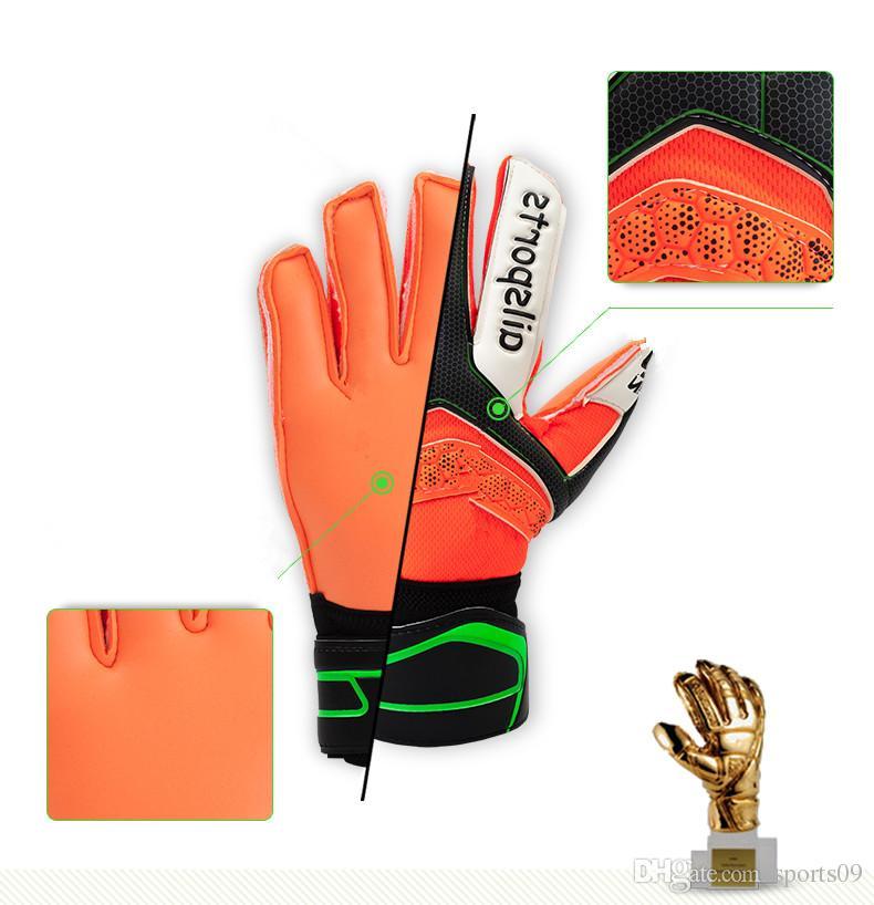 New Soccer Goalkeeper Gloves Finger Protection Professional Men Football Glove Adults Kids Thicker Goalie Soccer Gloves Luvas de futebol Sem