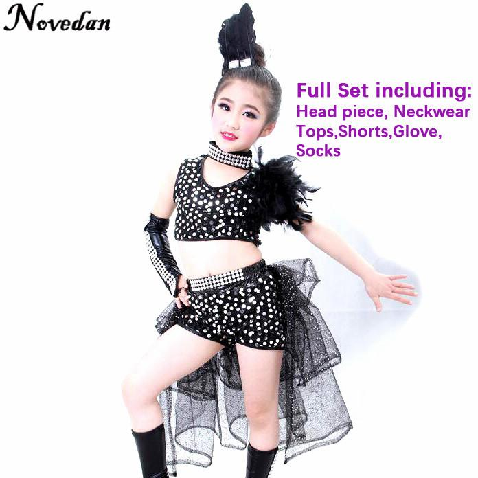 18b38d476 2019 Children Girl Hip Hop Jazz Costume Modern Ballroom Dance Wear ...