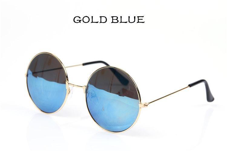 Compre Gafas De Sol Redondas De La Manera Hombres Mujeres Vintage Circle  Male Female Gold Gafas De Sol Hombres Mujeres Diseñador De La Marca Espejo  Gafas A ... a2f038d91ee7
