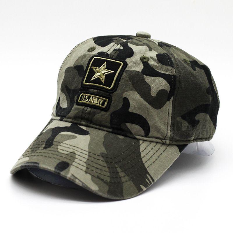 2019 US Army Tactical Cap Camo Baseball Caps Men Camouflage Baseball Hats  Outdoor Sports Snapbacks Bone Masculino Trucker Cap Pentagram Dad Hat From  ... 1b017163ae1
