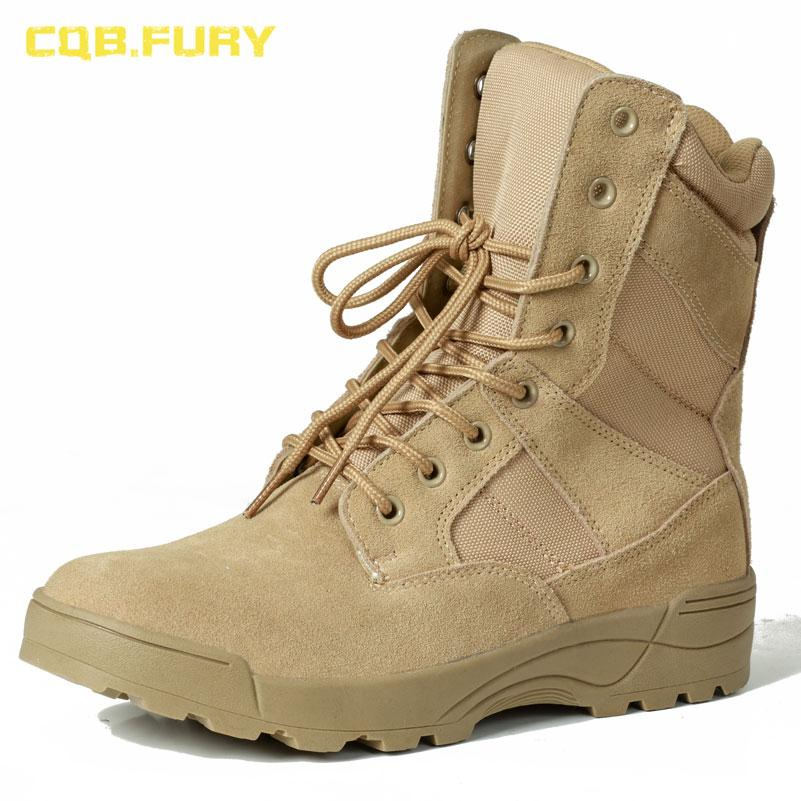 b769c37377 FURY Leather Mens Desert Boots Cow Suede Autumn Sand Combat Army Boots With  Zipper Ankle Strap Solid Tactical Boot Pumps Shoes Shoe Boots From  Beasy111, ...