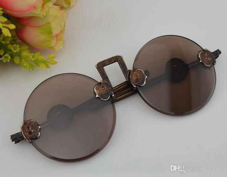 8bfd7dab7f Acheter Antique Antique Antique Lunettes République De Chine Old Shanghai  Sunglasses Brown De $39.18 Du Xn126 | DHgate.Com