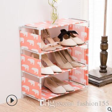 2018 4 Layer Creative Shoe Rack Fashion Home Multi Function Plastic  Assembly Shoe Rack Living Room Shoe Storage Rack From Fashion155, $5.23 |  Dhgate.Com