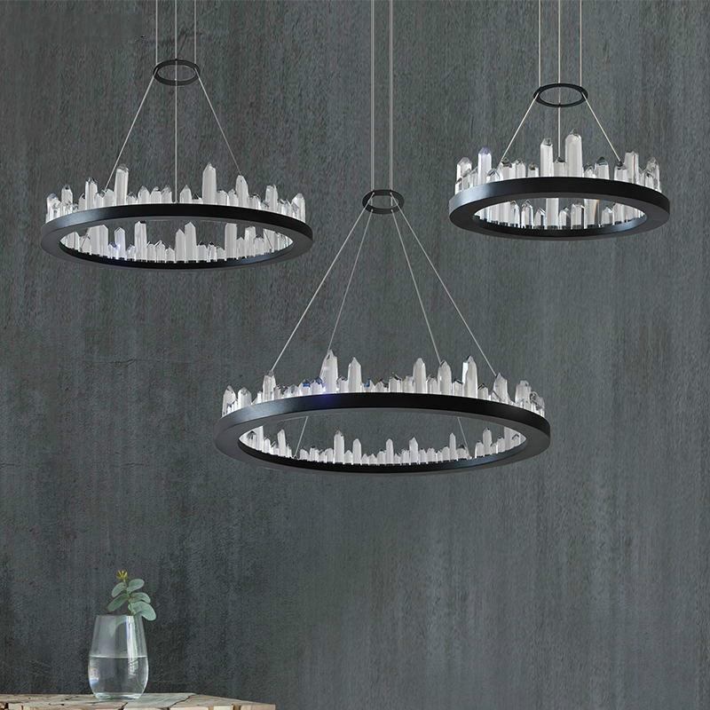 Coucher Lustre En Cristal Avec Au Suspendue Suspension Design Salon Hôtel Lampe Boutique Chambre À ybf76g
