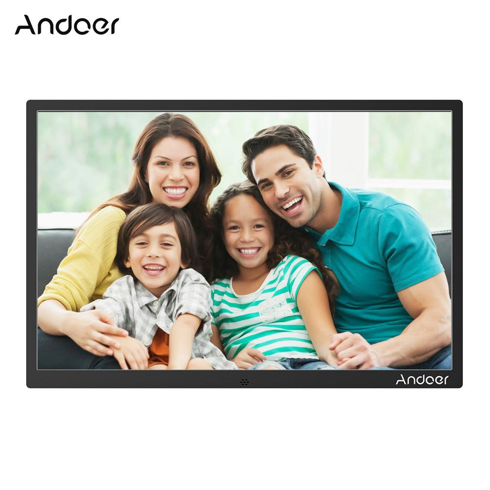 Andoer 15.4inch LED Photo Frame Support 1080P Video Play Aluminum ...