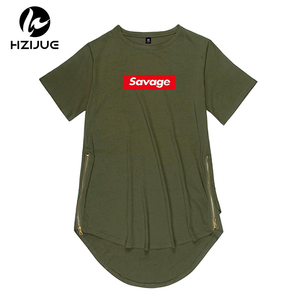 Acquista 2018 Nuovo Marchio Side Zipper Extended Man Mens Hiphop T Shirt  Oversize Top Tees Selvaggio Stile Hip Hop Abbigliamento Abbigliamento KANYE  A ... 7278d2991ada