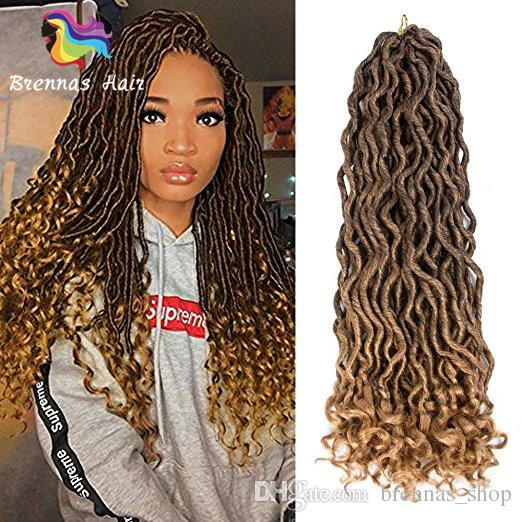 Curly Faux Locs Crochet Hair Deep Wavy Crochet Braids Synthetic