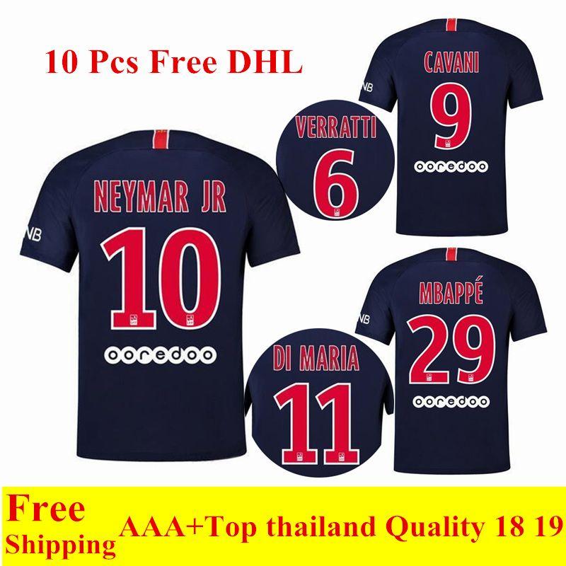 2018 2019 New PSG Jersey Home Blue NEYMAR JR Soccer Jersey CAVANI Football  Shirts VERRATTI Camiseta DI MARIA MBAPPE Maillot De Foot PSG Jersey NEYMAR  JR ... f27d29ef5