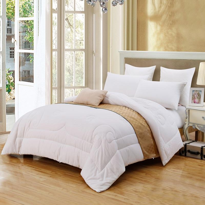 Review 2018 Luxury cotton White forter Bedding Set Twin Full Queen King Size Adults Kids Throw Blanket Quilt For Winter Autumn Summer From Shuishu For Your Plan - Model Of luxury king bedding Simple Elegant