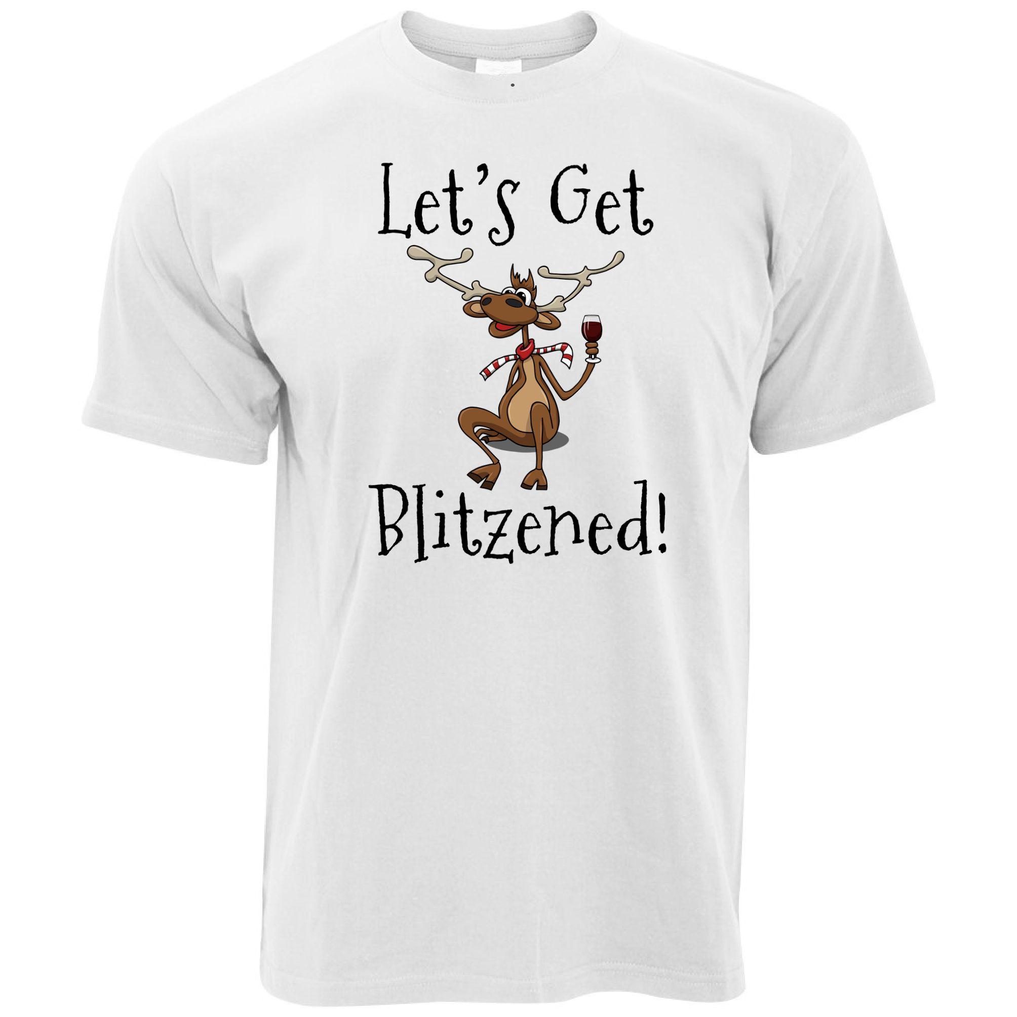 e2bf87fa549 Joke Christmas T Shirt Let S Get Blitzened Pun Slogan Drinking Xmas Funny  Funny Unisex Casual Tee Gift Designs For T Shirts Awesome T Shirt From  Tshirtsinc