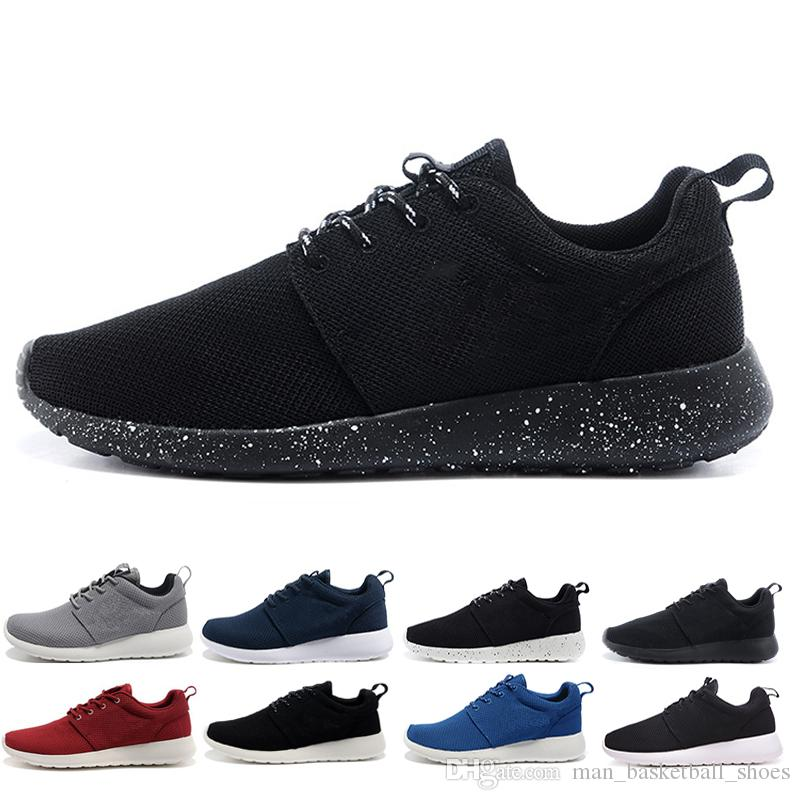 new style 4c7d7 0f78e Acquista Nike Air Roshe Run One 2018 New London Olympic Scarpe Da Corsa Uomo  Donna Triple Nero Bianco Grigio Rosa Scarpe Sportive Runner Scarpe Da ...