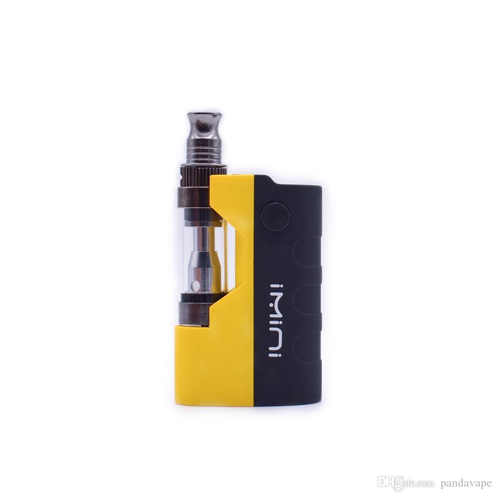 Newest Imini Thick Oil Cartridges Vaporizer Kit 500mAh Box Mod Battery 510  Thread New Liberty V1 Tank Wax Atomizer Vape Pen Starter Kits