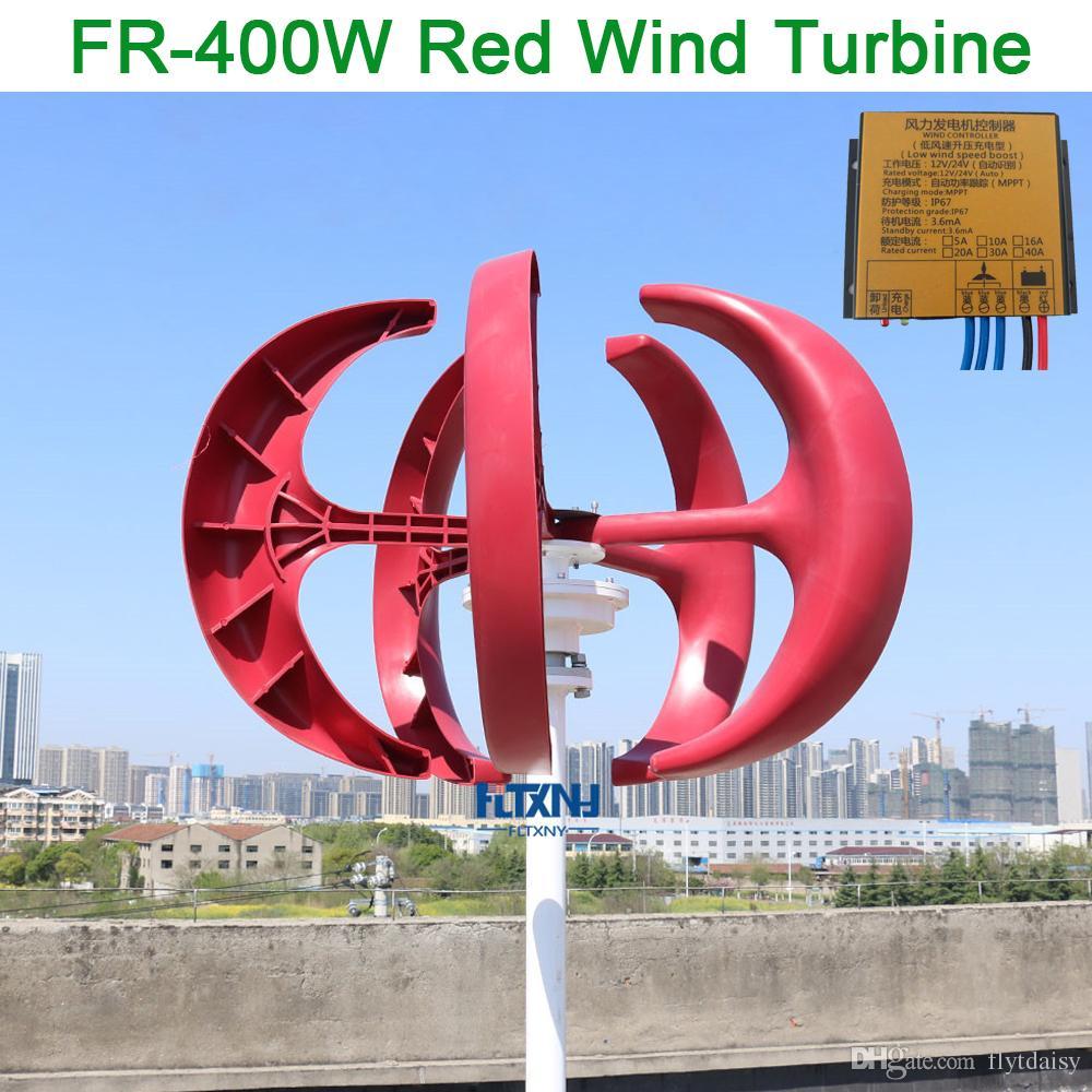 96ae74b40ca Compre Menor Preço 400 W 12 V   24 V Gerador De Turbina Eólica Vertical Com  Maglev Gerador E Controlador De Carga MPPT De Flytdaisy