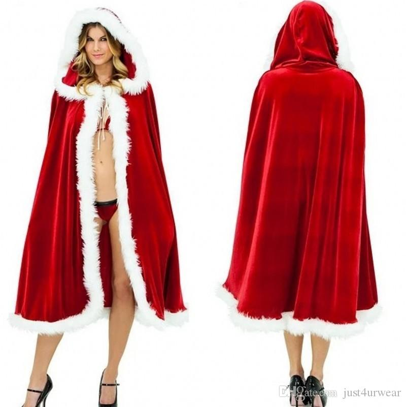 a655b3dd79 Womens Kids Cape Halloween Costumes Christmas Clothes Red Sexy Cloak Hooded  Cape Gown Robe Costume Accessories Cosplay Costume Party Themes For Adults  4 ...