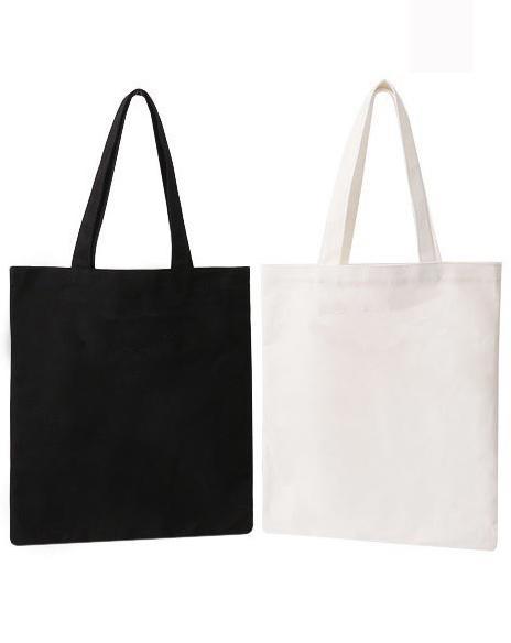 3120022d5 10 unidades / lote bolsa de asas de lona blanca bolsas de compra  reutilizables plegables bolsa de asas ecológica bolsas impresas  personalizadas al por mayor