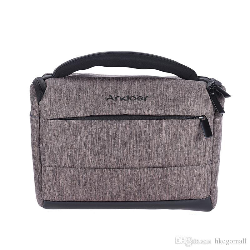 Andoer DSLR Camera Bag Fashion Polyester Shoulder Bag Camera Case for Canon Nikon Sony FujiFilm Olympus Panasonic DSLR Cameras