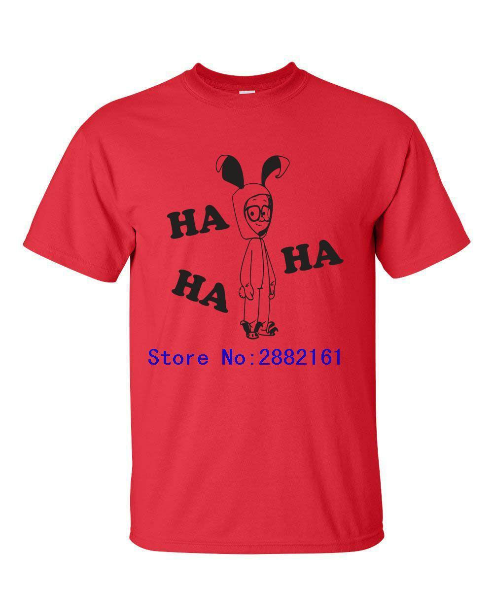 a christmas story nightmare ralphie bunny suit ha ha ha mens tee shirt print t shirt male brand clothes t shirt crazy t shirts designs from liguo0021
