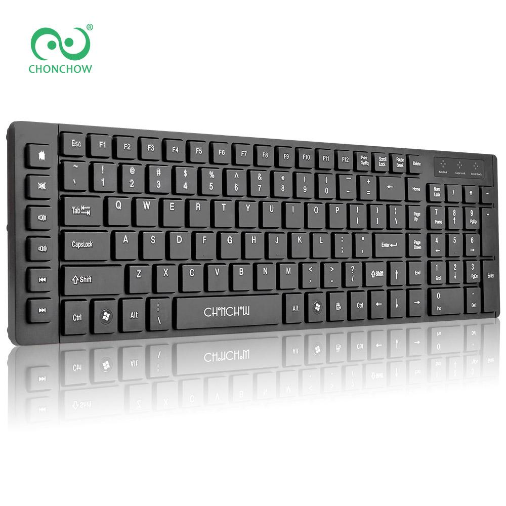 01c604c85bd3 CHONCHOW USB Wired Keyboard for Computer Meeting with Multimedia Hot Keys  For Mac PC Window 7/8/10 XP/Vista Linux